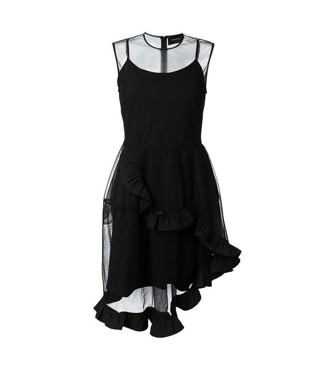 Simone Rocha Brocade & Tulle Illusion Yoke Dress