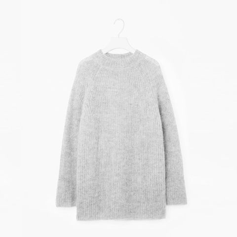 Oversized High-Neck Jumper