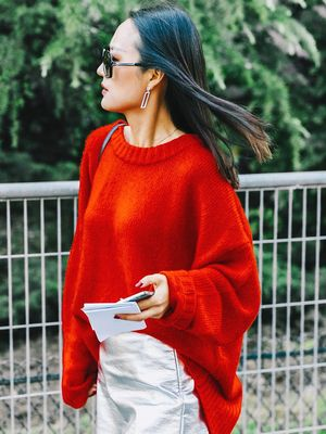 The Most Flattering Way to Wear a Bulky Sweater