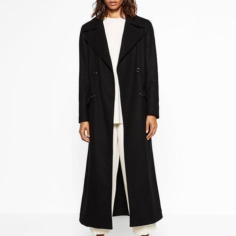 Long Recycle Wool Coat