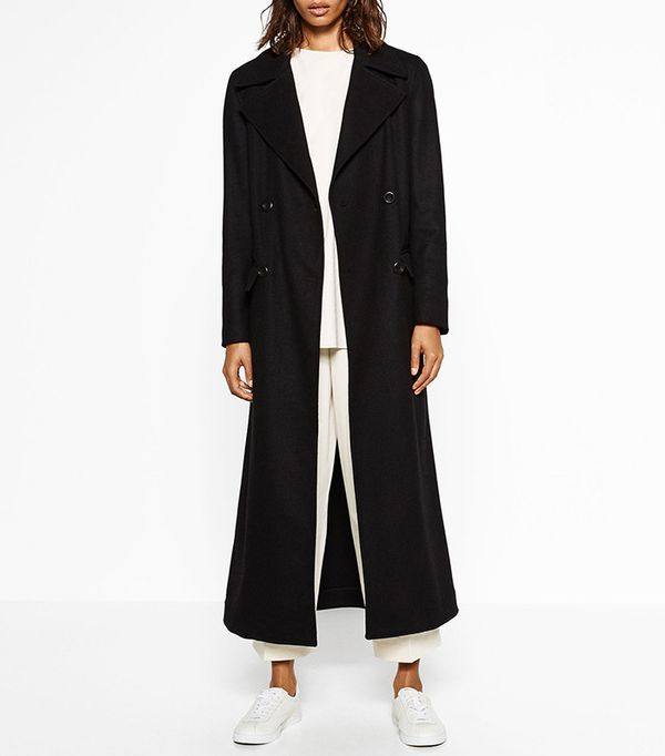 Zara Long Recycle Wool Coat