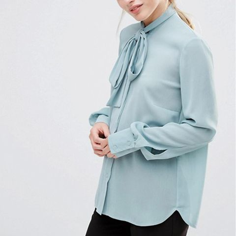 Blouse with Tie Neck