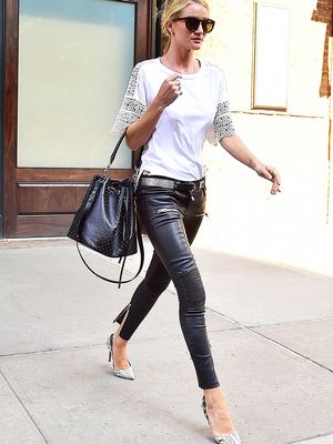 3 Shoe Styles That Go With Leather Pants (and One That Doesn't)