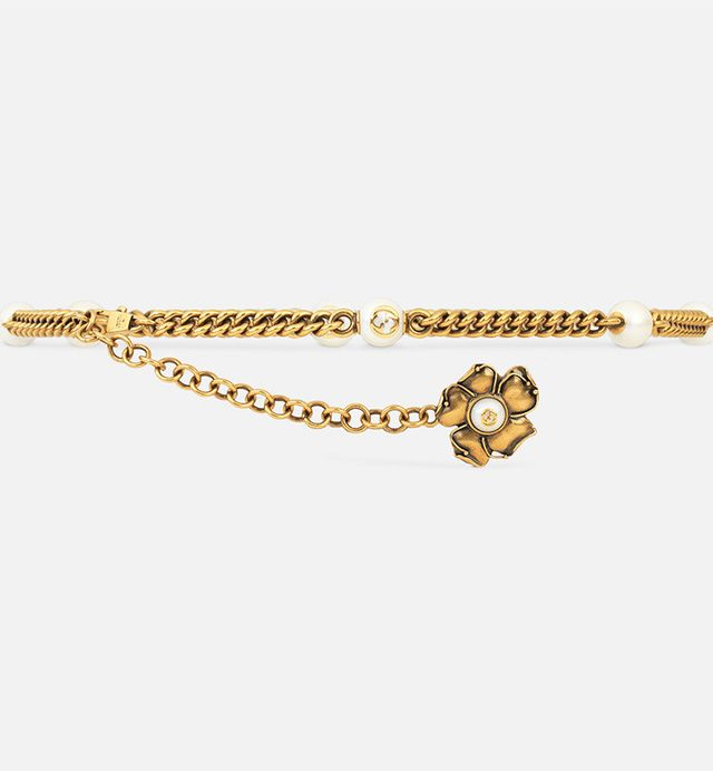 Gucci Chain Belt With Metal Flower