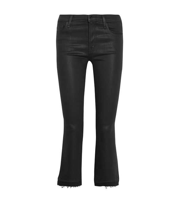 Cropped Crepe Tapered Pants
