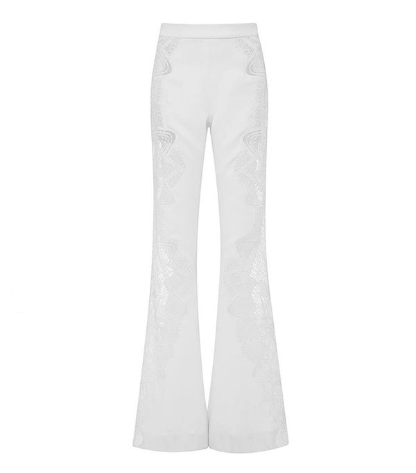 Jonathan Simkhai Lace Applique Wide Leg Pant