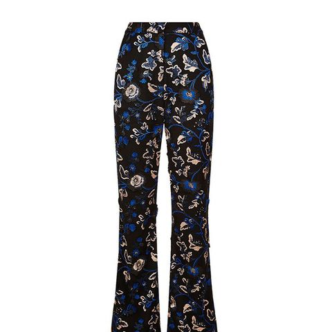 Embellished Floral-Lace Trousers