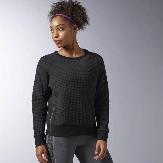 Reebok Elements Winter Pack Quilted Crew Sweatshirt