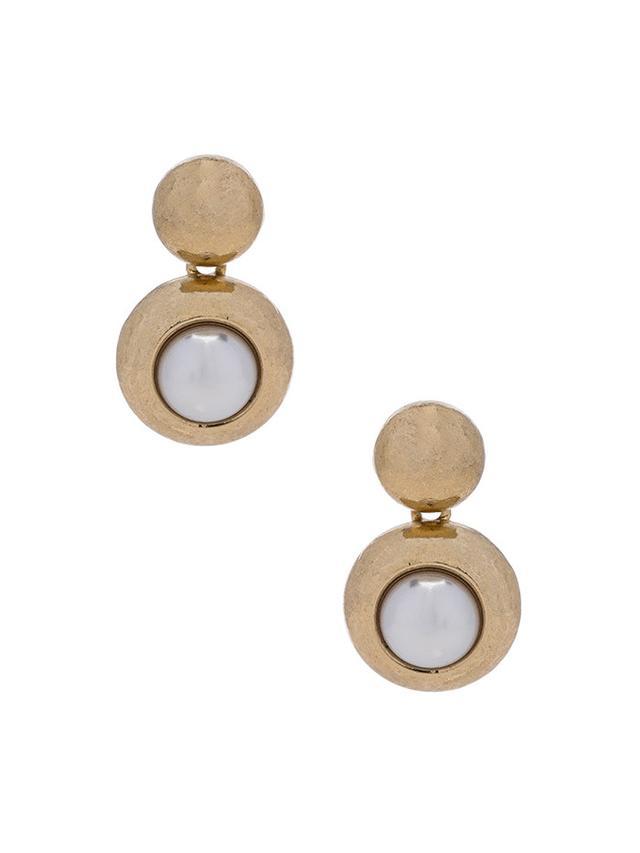 Oscar de la Renta Pearl Earrings