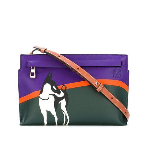 Dog Print Cross Body Bag