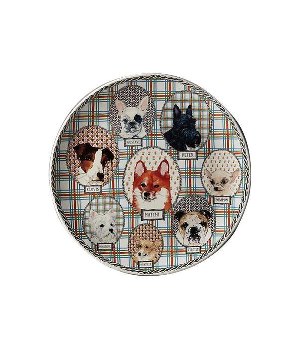 Faienceri De Gien Darling Dog Cake Platter