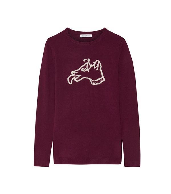 Bella Freud Dog Intarsia Wool Sweater