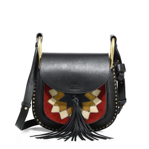 Hudson Small Patchwork Saddle Bag