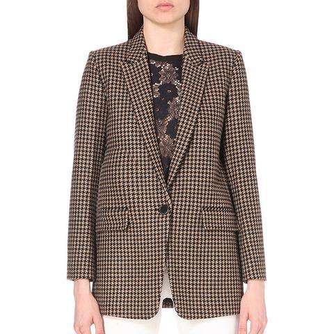 Lodger Houndstooth Wool-Blend Jacket