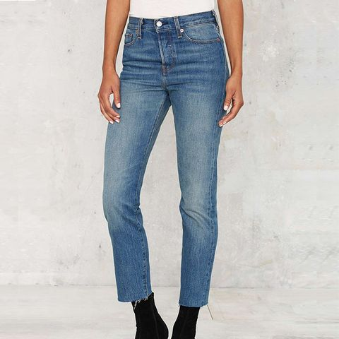 Wedgie Icon Button-Fly Jeans in Coyote Desert