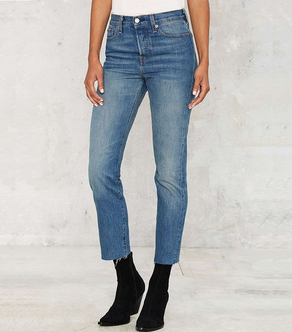Levi's Wedgie Icon Button-Fly Jeans in Coyote Desert