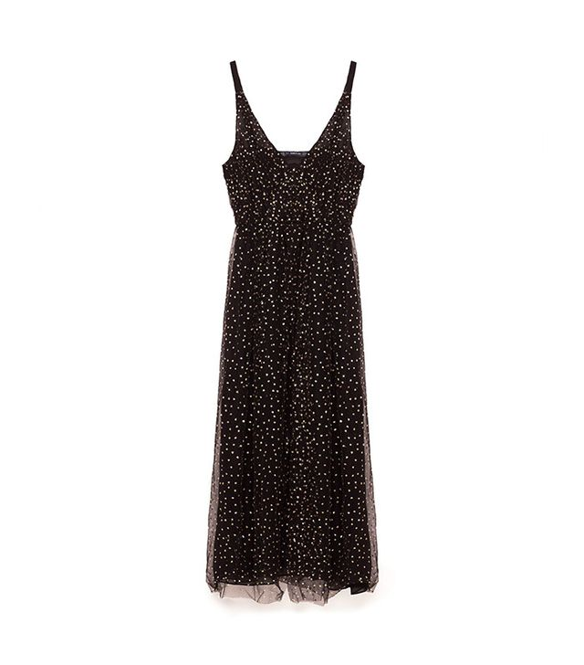 Zara Long Tulle Dress With Polka Dots