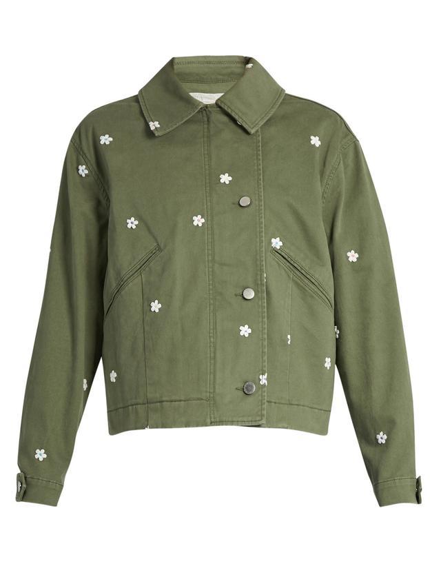 Stella McCartney Floral-Embroidered Jacket