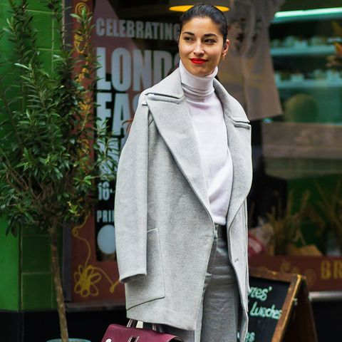 what to wear to work in winter: Caroline Issa