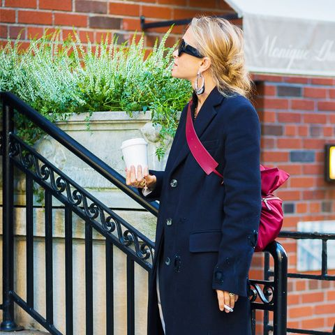 what to wear to work in winter: Mary Kate Olsen