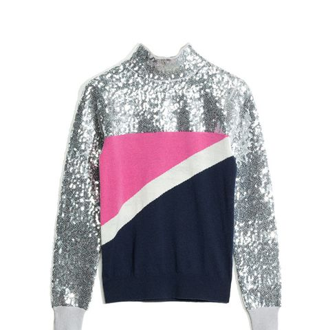 Pop and Block Sequined Sweater