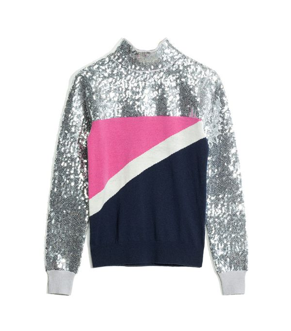 & Other Stories Pop And Block Sequined Sweater