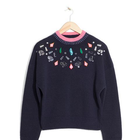 Stone Embellished Sweater