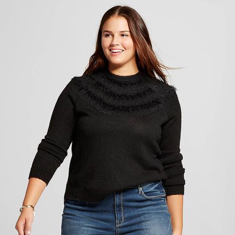 Women's Plus Size Fair Isle Raglan Sweater