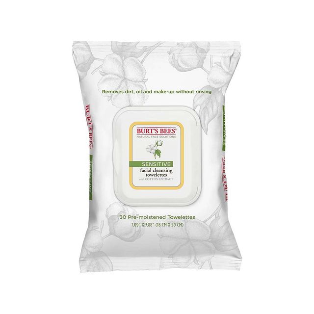 Burt's Bees Cotton Extract Sensitive Facial Cleansing Towelettes