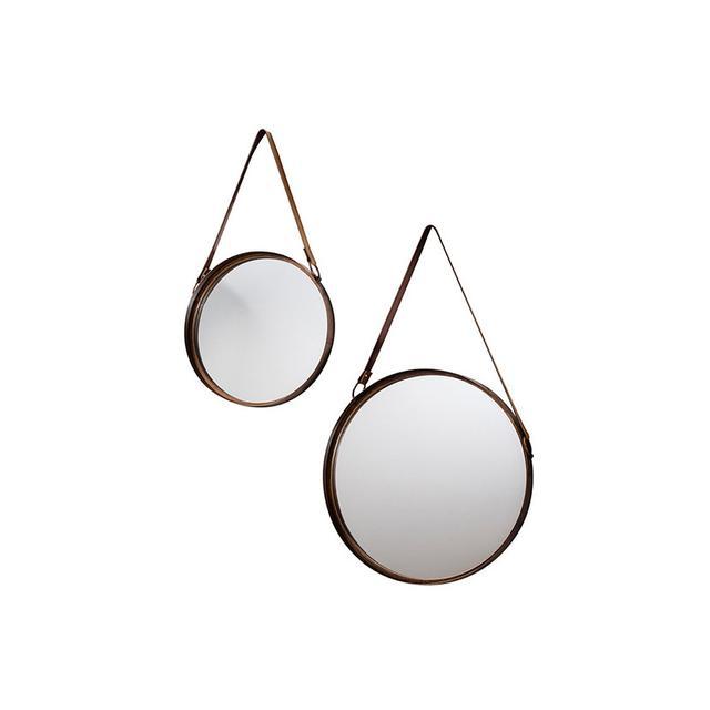 Shine Mirrors Moda Round Wall Mirror