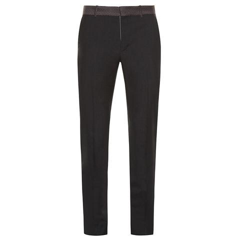 Ribbon-waist slim-leg trousers