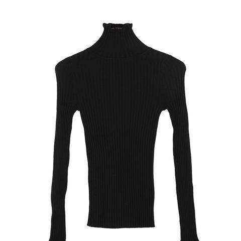 Tiara Peplum Turtleneck Pullover