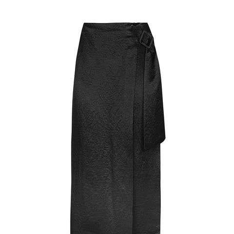 Buckle Drape Skirt by Boutique