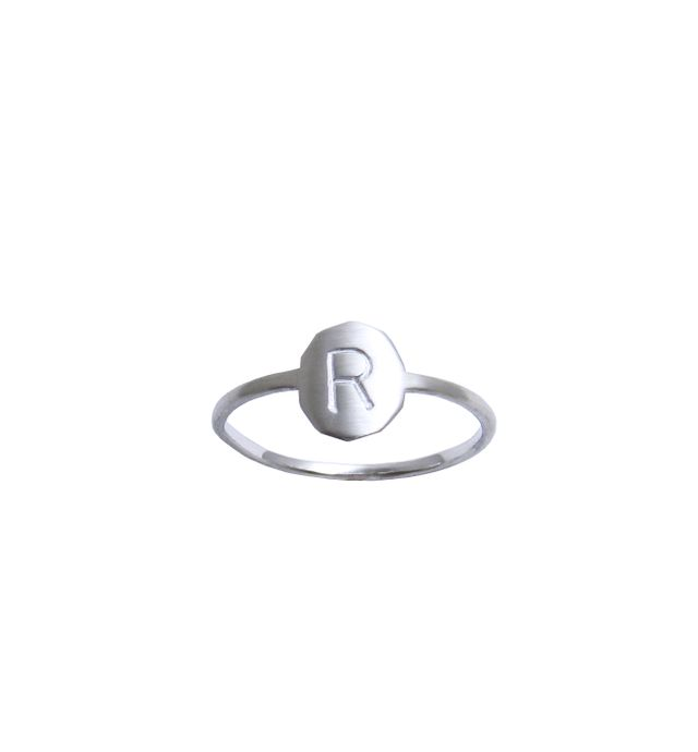 Ginny Reynders Personalised Initial Ring in Sterling Silver