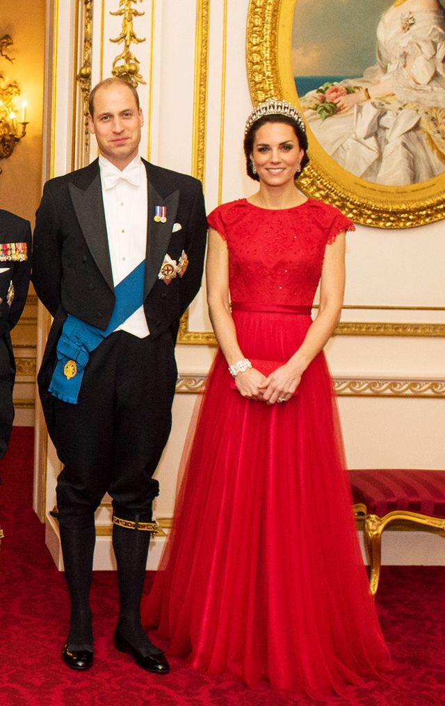 Duchess of Cambridge red Jenny Packham gown