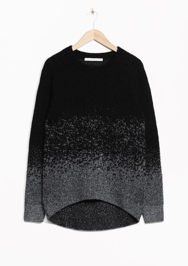 & Other Stories Metallic Mohair-Blend Sweater