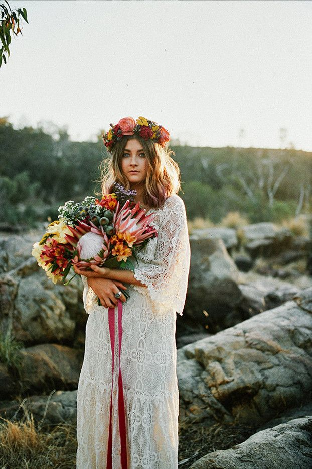 Bohemian wedding dress pictures that will blow you away who what pinterest junglespirit Choice Image