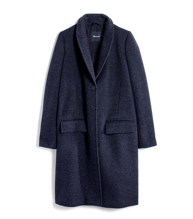 Madewell teatro swing coat in heather grey