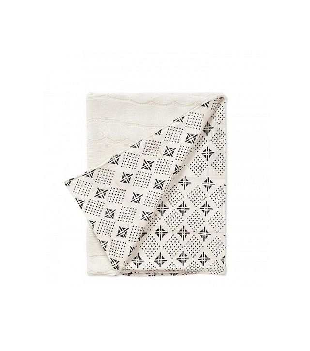 Erin Featherston Tribal Mud Cloth & Cable Knit Baby Blanket