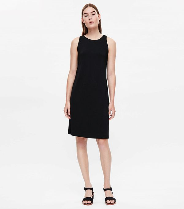 Cos Dress with Grosgrain Strap Back