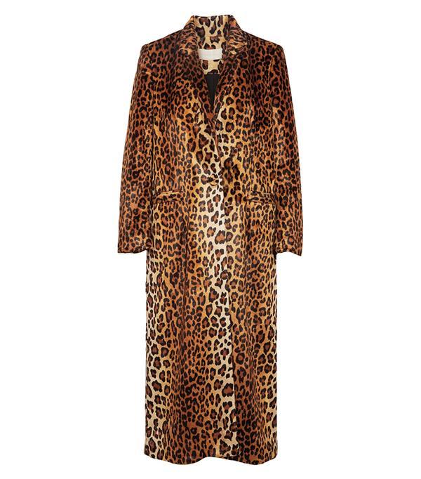 Leopard-print Faux Fur Coat