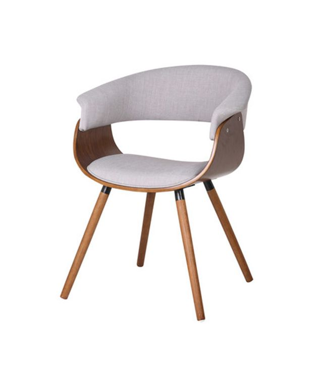 Inspire Bent Wood Accent Barrel Chair