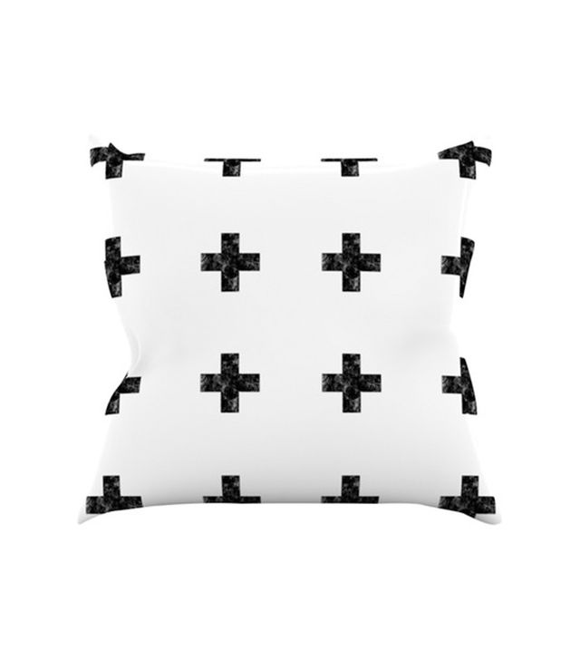 Kess InHouse Swiss Cross by Skye Zambrana Throw Pillow