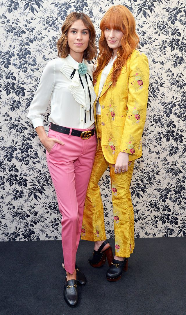 Alexa Chung and Florence Welch attend Gucci Timepieces and Jewelry