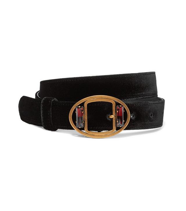 Prada Embellished Velvet Waist Belt