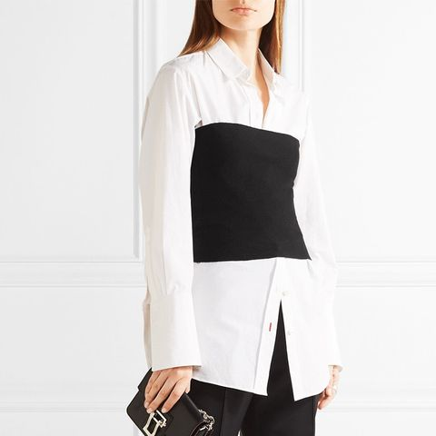 Cropped Cashmere-Blend Top