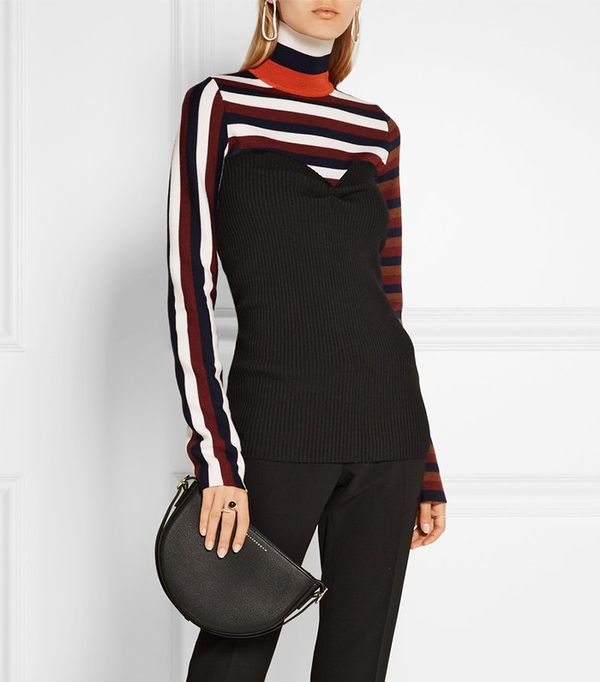 Victoria Beckham Strapless Ribbed-Knit Top