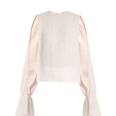 Petra Round-Neck Long-Sleeved Jacquard Top