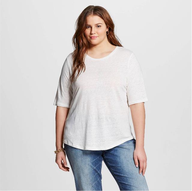 Who What Wear Linen T-Shirt