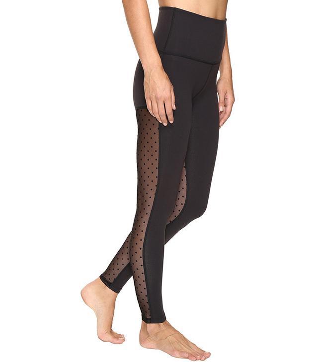 Beyond Yoga Polka Dot Mesh Back High Waist Leggings